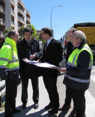 Las obras de mejora de la PO-552 a su paso por Baiona, cuentan con una inversión de más de 400.000 euros