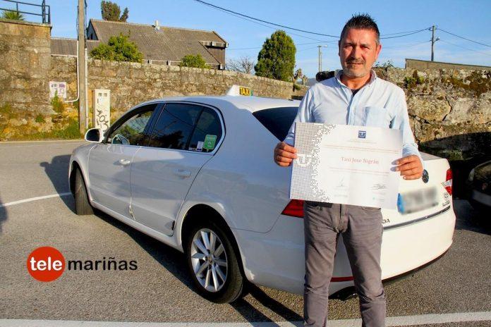 Un taxista de Nigrán recibe el premio SICTED por la calidad en el servicio