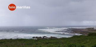El temporal deja vientos superiores a los 95 km/h en Oia