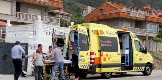 Un motorista herido tras colisionar con un turismo en As Mariñas