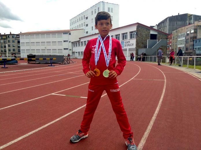 Álex Sierpes logra dos oros en el campeonato provincial escolar benjamín en pista al aire libre