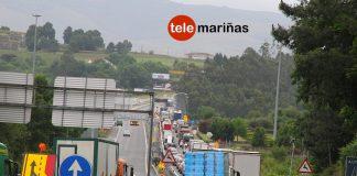 Colas kilométricas en Tui para acceder en Portugal