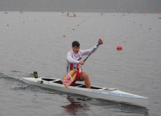 Brais Casás y Roi Rodríguez, del Kayak Tudense, en la Copa del Mundo de Szeged