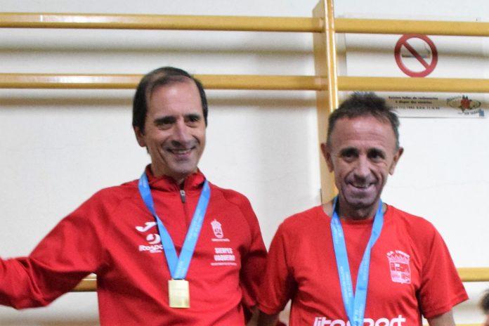 Los veteranos Manuel Flores y Antonio Pena se proclaman campeones gallegos de atletismo en Ourense