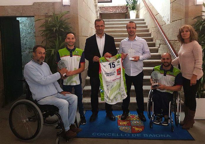 Dos jugadores miñoranos se proclamaron campeones de Europa de baloncesto en silla de ruedas