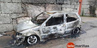 Arde un coche a causa de un rayo en Gondomar