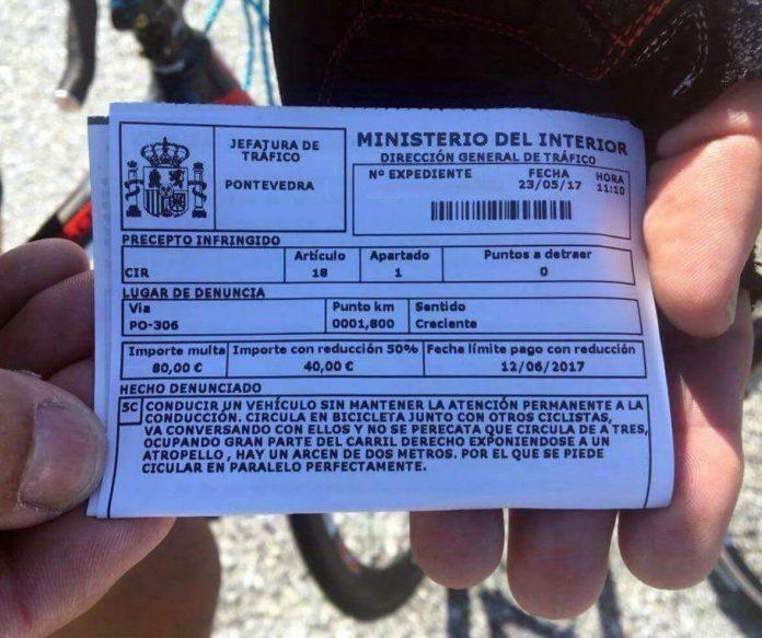 Aumentan las multas de Tráfico a ciclistas en la provincia de Pontevedra
