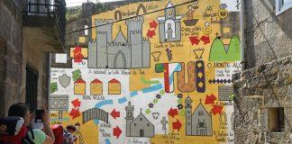 Crean en Tui un mural para los peregrinos del Camino Portugués