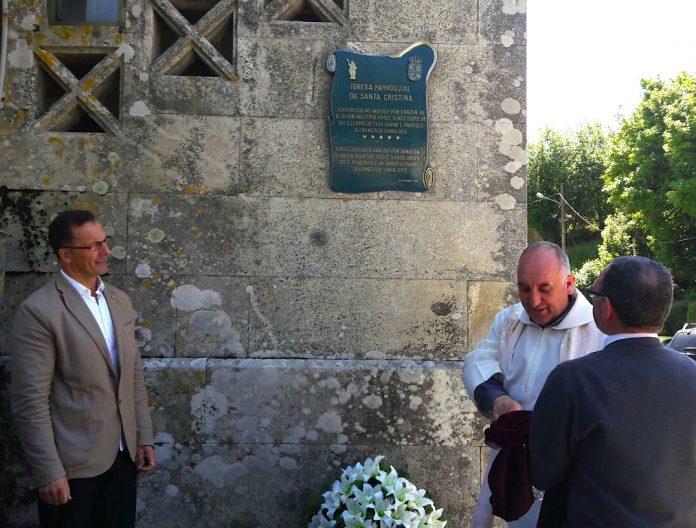 Conmemoran el centenario de la colocación de la primera piedra de la iglesia de Santa Cristina