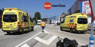 Herido un motorista de Gondomar al chocar con una furgoneta en Vincios