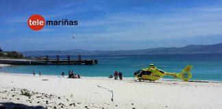 Rescatan a un hombre que se ahogaba en una playa de las Islas Cíes