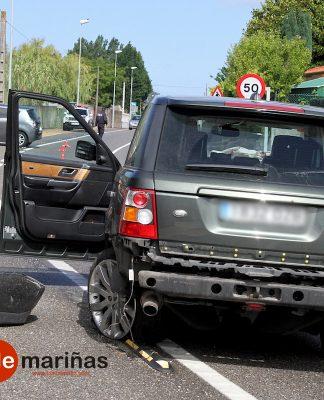 Aparatoso accidente de tráfico en Panxón