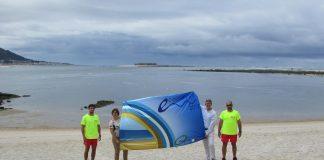 A Guarda luce sus banderas azules en las playas de Area Grande y O Muíño