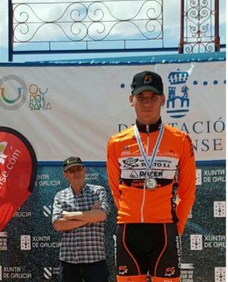 El baionés Brais Gómez, del Club Ciclista Ponteareas, preseleccionado por Galicia