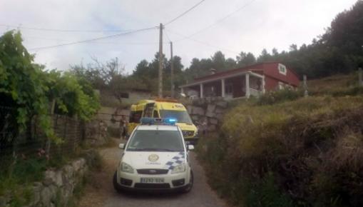 Un vecino de Tomiño herido al caer de un muro de tres metros de altura en Barrantes