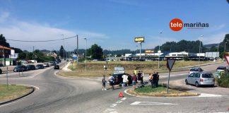 Una ciclista herida tras ser atropellada en Tui