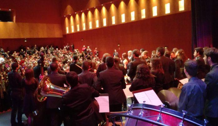 Concierto de fin de curso del conservatorio y de la escuela municipal de música de Tui
