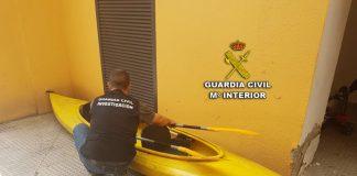 Dos detenidos por robar una piragua en A Guarda