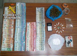 La Guardia Civil desarticula un punto de venta y distribución de drogas