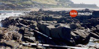 Aparecen restos del Rúa Primero en la playa baionesa de A Cuncheira