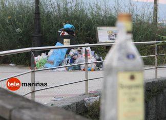 Más de 20 toneladas de basura y 18 intoxicaciones etílicas en la noche de San Xoán de Panxón