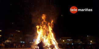 Las hogueras de San Xoán brillaron ante más de 30.000 personas en Panxón
