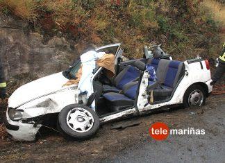 Excarcelado un vecino de A Guarda tras salirse de la vía en Cabo Silleiro