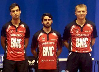 La AD Vincios de tenis de mesa, de la superdivisión masculina, clasificado para la ETTU Cup Men