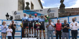 Magallanes, Iglesias, De la Fuente y Carrera se proclamaron en Tui campeones de Galicia máster de carretera