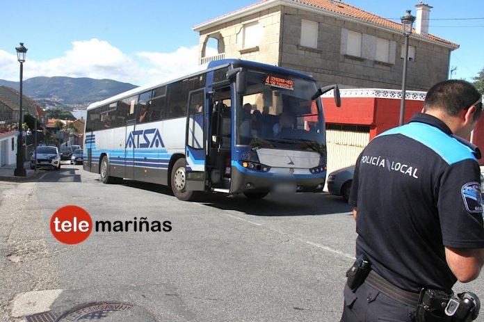 Herido un menor tras chocar su bicicleta con un autobús en Panxón
