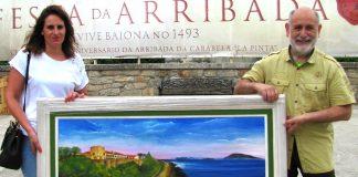 Donan a Baiona un óleo sobre acuarela y siete fotografías de la bahía
