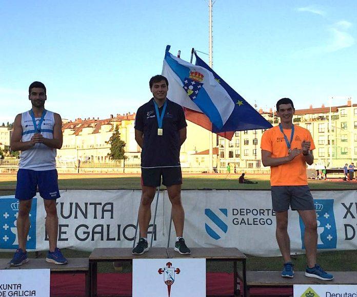 El atleta guardés Sergio Rodríguez, campeón gallego absoluto de 200 metros