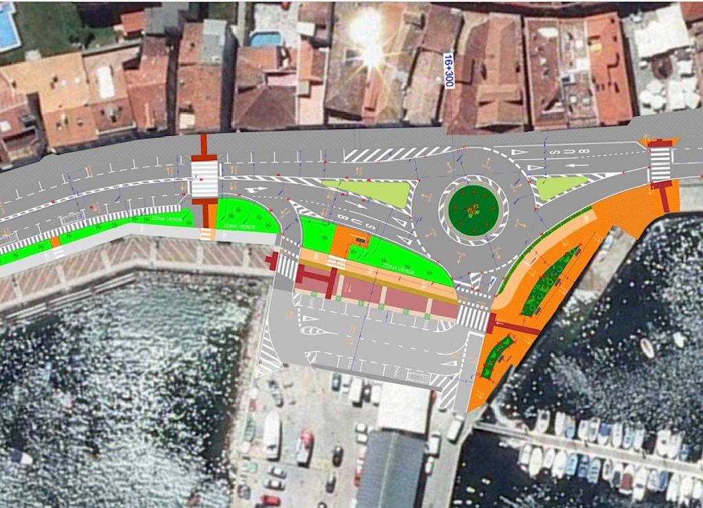 Baiona contará con una nueva glorieta para facilitar el acceso al puerto pesquero