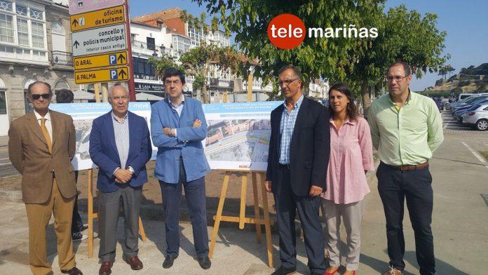 Finaliza la primera fase de las obras en las travesías de la carretera PO-552 en Baiona