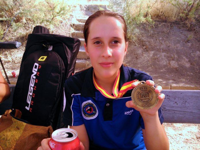 La baionesa Silvia Marcote gana el campeonato de España de tiro con arco 3D Sub 14