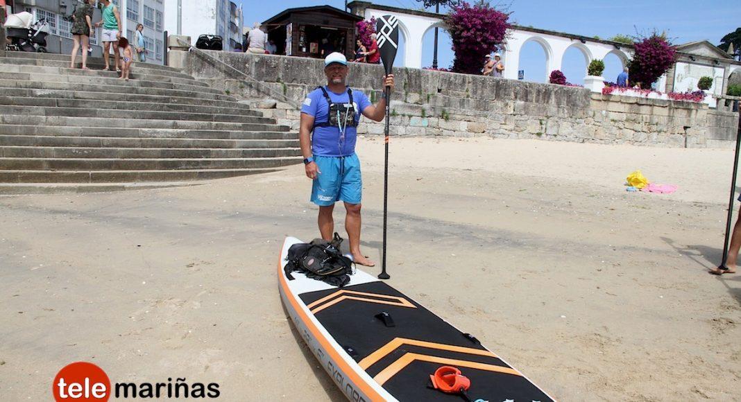 Del País Vasco a Cataluña en paddle-surf, con escala en Baiona
