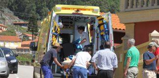 Herido un ciclista al caer de su bicicleta en Oia