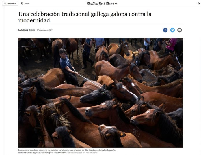 El curro de A Valga en The New York Time