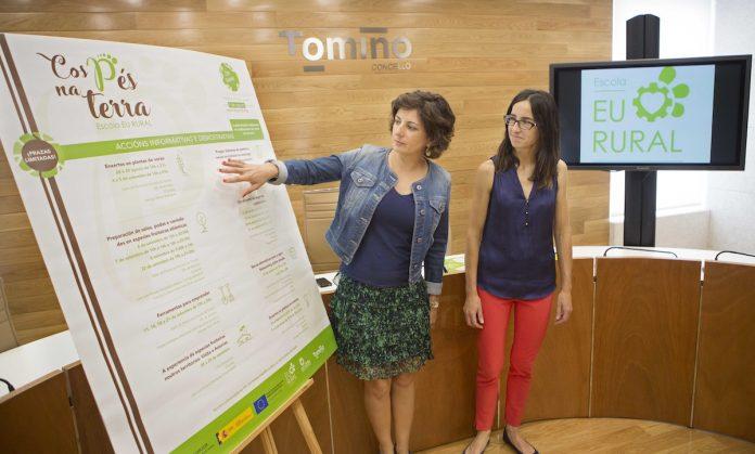 Presenta en Tomiño la Escola Eu Rural y el programa Cos pes na terra