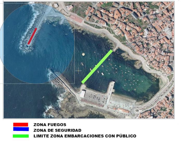 Recomendaciones para usuarios del puerto y público en general sobre el espectáculo pirotécnico de las Festas do Monte