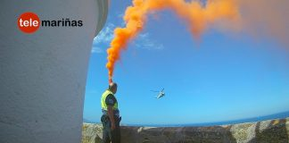 El Pesca 2 realiza un simulacro en Monteferro con la colaboración de la Policía Local de Nigrán