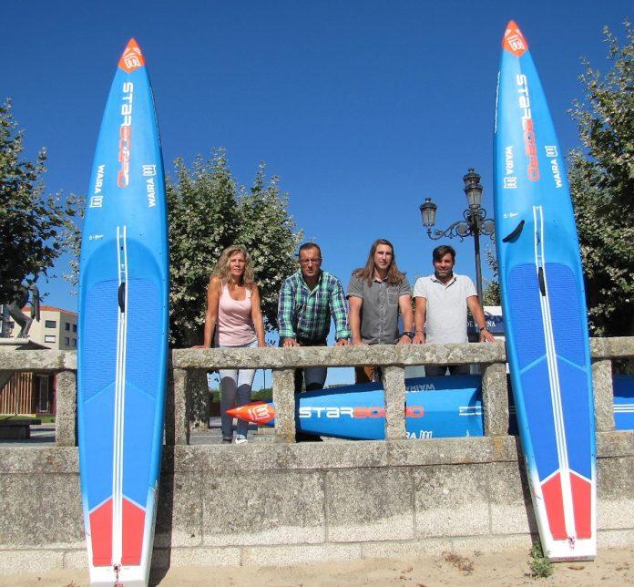 La primera marca mundial de fabricación de tablas de paddle surf probará su último modelo en Baiona