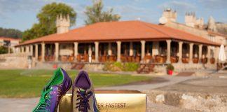 Usain Bolt dona unas zapatillas firmadas para el Vertiatlón Solidario de Baiona