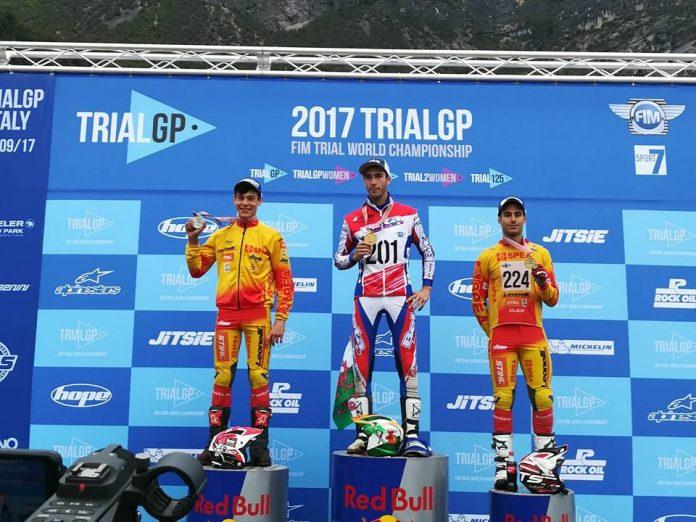 El rosaleiro Gabriel Marcelli, subcampeón del mundo de trial