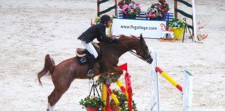 Gustavo Barroso gana el campeonato gallego de hípica celebrado en el Alto de San Cosme