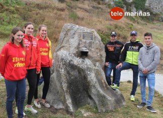 Baiona inaugura una escultura de bronce dedicada al trial