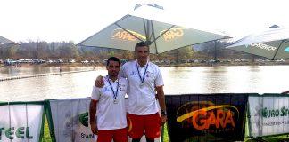 Óscar Graña y Ramón Ferro del Kayak Tudense, medalla de plata en el mundial de Sudáfrica