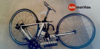 Herido un ciclista en pleno centro de Tui