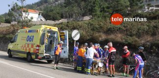 Herido un ciclista tras caerse de su bicicleta en Mougás