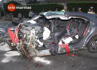 El joven que causó el accidente mortal de Gondomar circulaba a 200 km/h